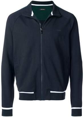 Ermenegildo Zegna side stripe zipped sweatshirt