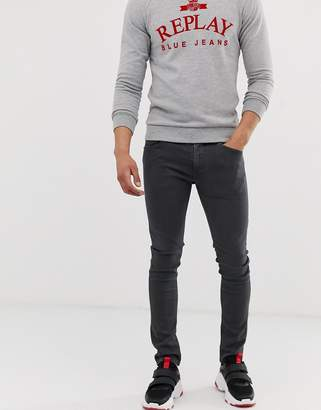 Jondrill Hyperflex stretch skinny fit jeans in charcoal grey