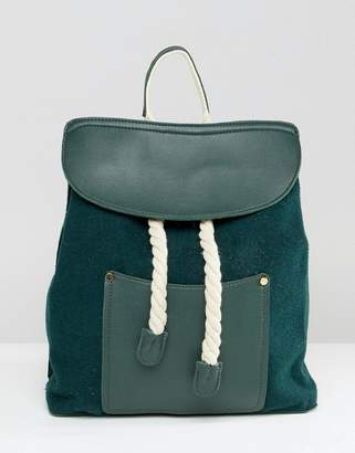 Liquorish rope detail backpack