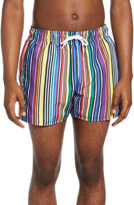 Topman Pride Stripe Swim Trunks