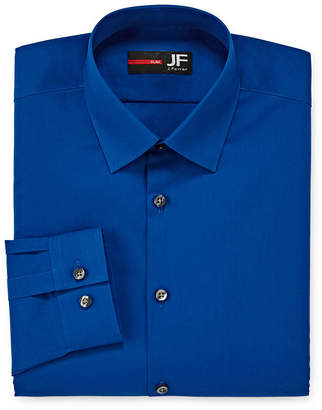 Jf J.Ferrar Easy-Care Solid Long Sleeve Broadcloth Dress Shirt-Big & Tall