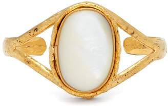 SYLVIA TOLEDANO Gold brass and mother-of-peal bangle