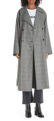 Nili Lotan Topher Plaid Wool Blend Coat