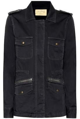 Velvet Ruby cotton military jacket