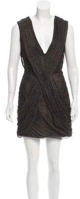 Matthew Williamson Silk Draped Dress w/ Tags Brown Silk Draped Dress w/ Tags