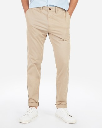 Express Athletic Slim Garment Dyed Chino
