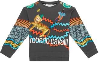 Roberto Cavalli Circus Print Sweatshirt