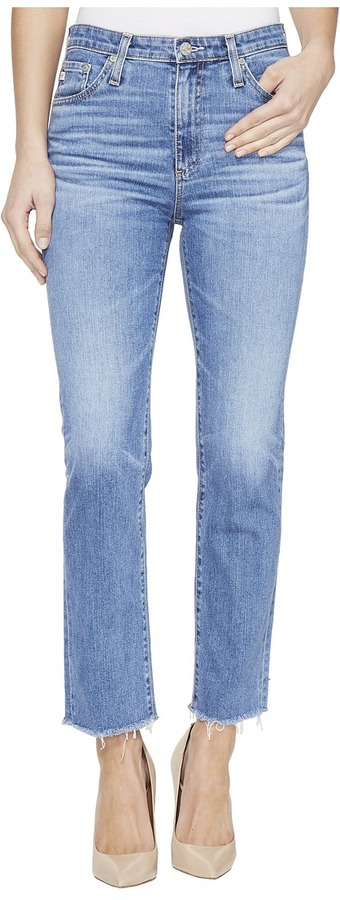 AG Jeans AG Adriano Goldschmied Isabelle High-Rise Straight Crop in 14 Years Daring
