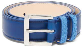 Paul Smith Woven Loop Leather Belt - Mens - Blue