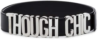Moschino Black Though Chic Leather Belt