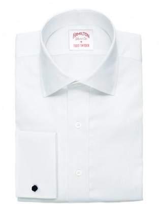 Hamilton Solid Pique French Cuff in White