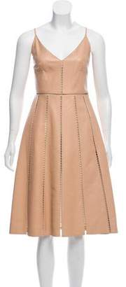 Valentino Leather Cutout Dress w/ Tags