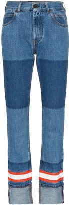 Calvin Klein fire tape applique straight jeans
