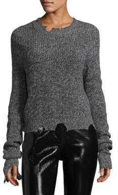 Helmut Lang Grunge Marled Destroyed Crewneck Sweater