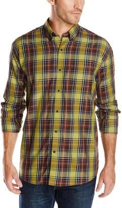 Cutter & Buck Men's Long Sleeve Griffin Plaid Shirt, Multi