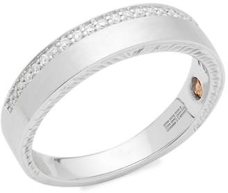 Effy Men's 18K White Gold & Diamond Ring