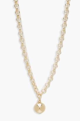 boohoo Oversized Ball Choker Necklace