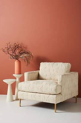 Anthropologie Plush Woven Bowen Chair