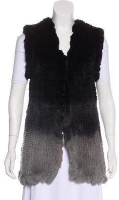 Love Token Ombré Fur Vest