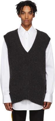 Calvin Klein Grey Sleeveless V-Neck Sweater