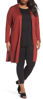 Nic+Zoe Silk Blend Trench Cardigan
