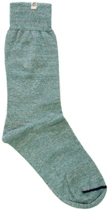 Melange Home 40 Colori Teal Linen Socks