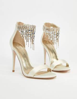 Asos DESIGN HALCYON Bridal Embellished Heeled Sandals