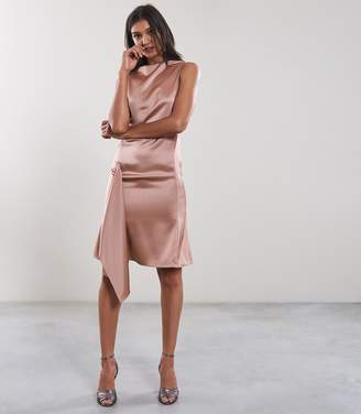 Reiss SERENELLA LACE DETAIL DRESS Pink
