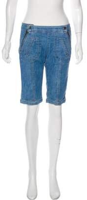 Stella McCartney Mid-Rise Knee-Length Shorts