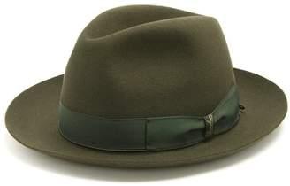 Borsalino - Alessandria Narrow Brim Felt Hat - Mens - Green