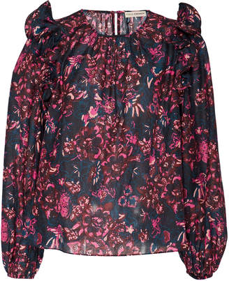 Ulla Johnson Medine Floral-Print Cotton-Blend Blouse Size: 2