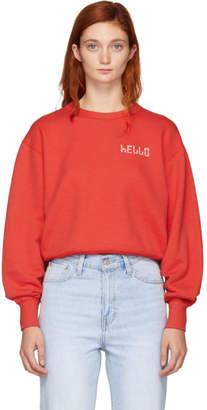 Rag & Bone Red Hello Sweatshirt