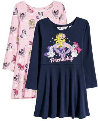 H&M 2-pack Jersey Dresses - Pink