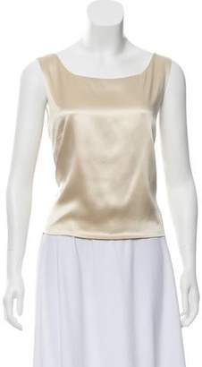 Lafayette 148 Silk Gold Sleeveless Top