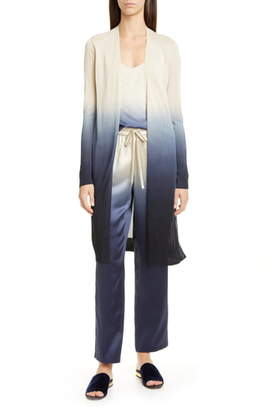 Lafayette 148 New York Open Front Dip Dyed Cardigan