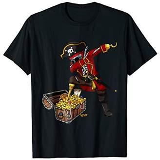 Dabbing Pirate Skeleton T Shirt Kids Halloween Costume Dab