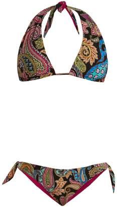 Etro Abstract paisley-print bikini