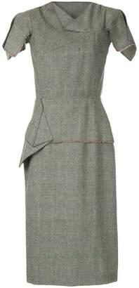 Roland Mouret structured check dress