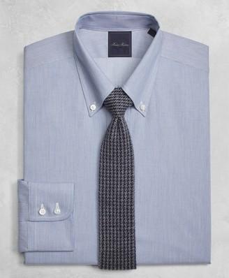 Brooks Brothers Golden Fleece Milano Slim-Fit Dress Shirt, Button-Down Collar Micro-Ground-Stripe
