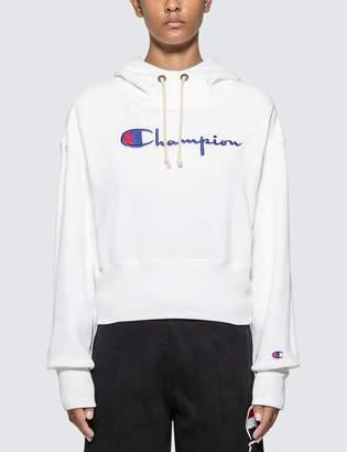 Champion Reverse Weave Big Script Cropped Hoodie