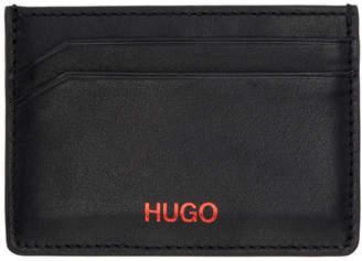 HUGO Black Subway Card Holder