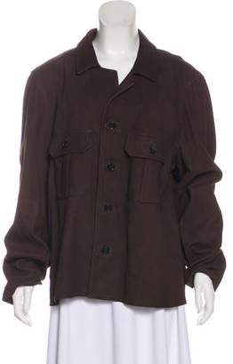 Billy Reid Leather Collared Jacket