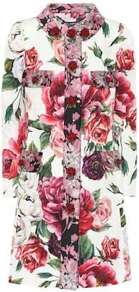 Dolce & Gabbana Embellished floral-printed coat