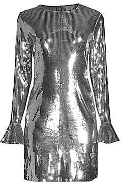 MICHAEL Michael Kors Women's Sequin Bell Sleeve Mini Dress