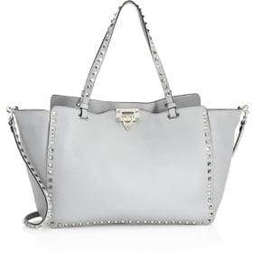 Valentino Medium Leather Studded Tote