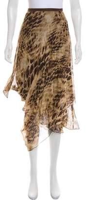 D-Exterior D. Exterior Printed Silk Skirt w/ Tags