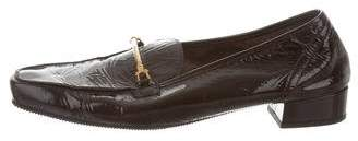 Robert Clergerie Patent Leather Square-Toe Loafers