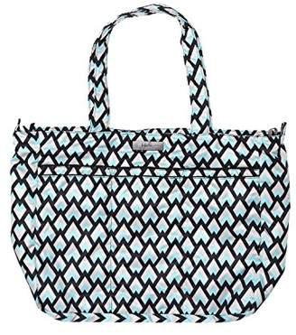 Ju-Ju-Be Onyx Collection - Super Be - Zippered Tote Diaper Bag, Black Diamond