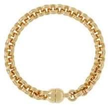 Small Circle 14K Yellow Gold Link Bracelet