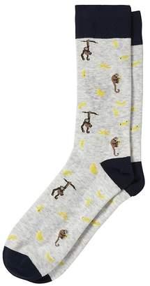 Banana Republic Monkey Sock
